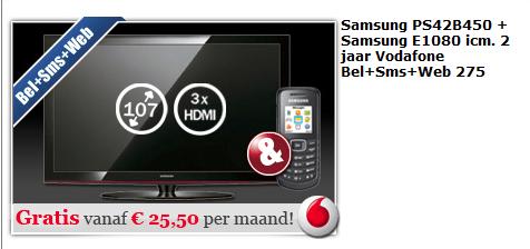 Gratis Samsung Televisie