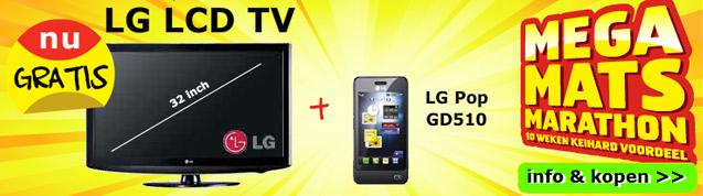 Gratis LG LCD TV plus gratis LG pop telefoon