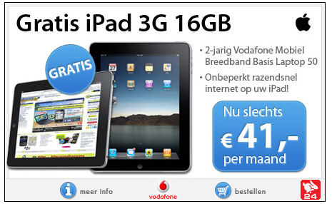Gratis Apple iPad 3G