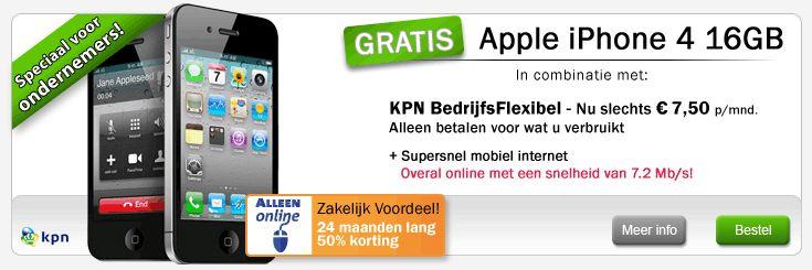 belsimpel-gratis-iphone-4-16gb-zakelijk-kpn-simlock-vrij