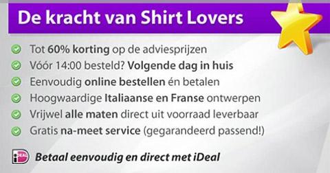 15 euro korting bij shirtlovers!