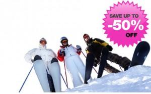 Tot wel 50% korting op het huren van ski's!