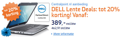 korting op je DELL notebook of PC