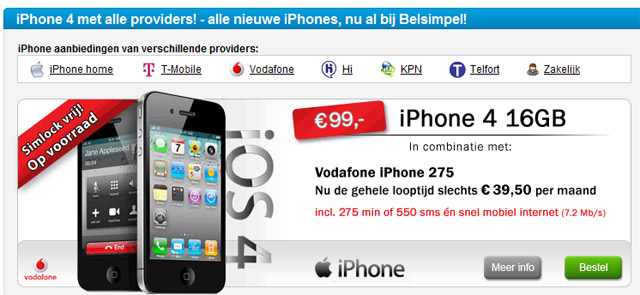 iPhone 4 aanbiedingen