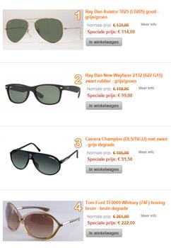 Hoogste kwaliteit zonnebrillen voor top prijzen