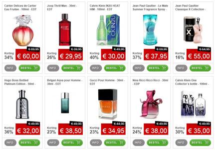 goedkoop parfum kopen op internet
