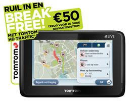 € 50,- terug voor oud navigatiesysteem