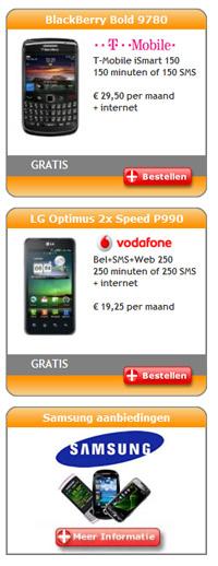 Telecom aanbiedingen bij 2call